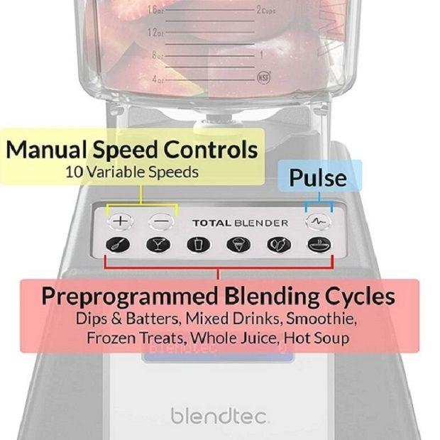 Blendtec Total Classic Original Blender - Controls